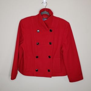 Pendleton Double Breasted Wool Pea Coat Lined 12